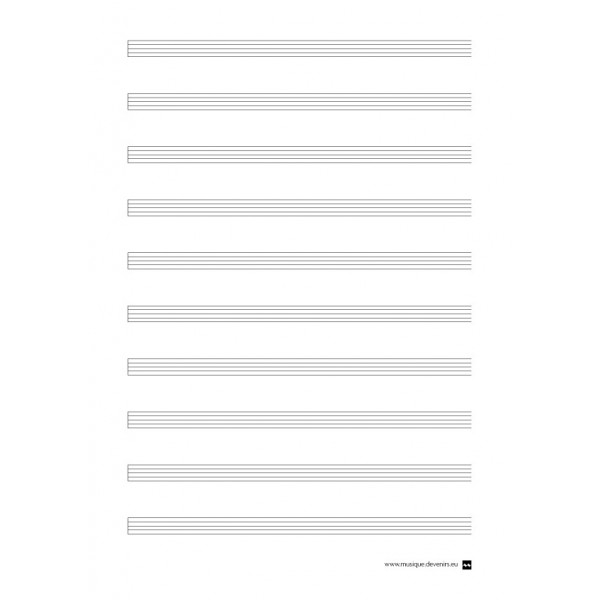 Blank paper to write on the computer