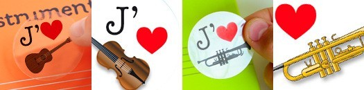 Autocollants pour partager sa passion de la musique