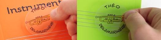 Étiquettes instrument à personnaliser