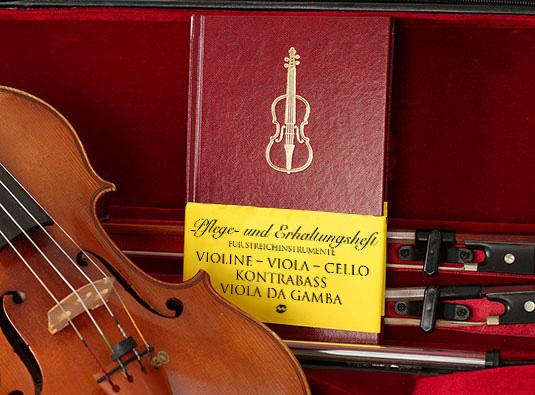 carnet d'entretien des instruments à archet